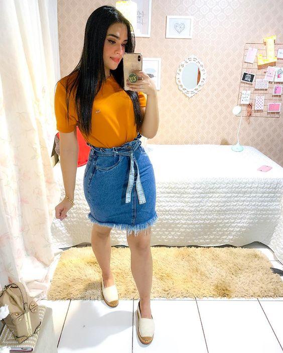 Looks com saia jeans (3)