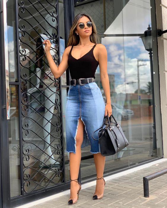 Looks com saia jeans (9)